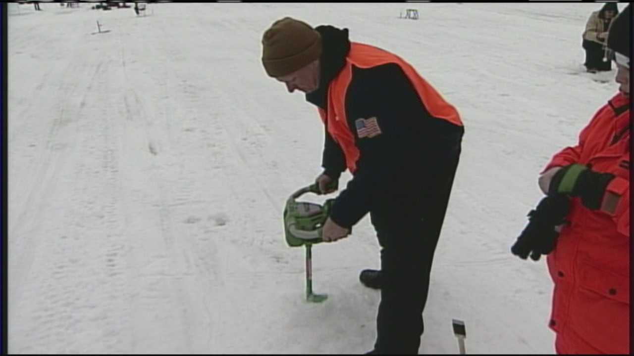 Crystal Lake Ice Fishing Derby Underway