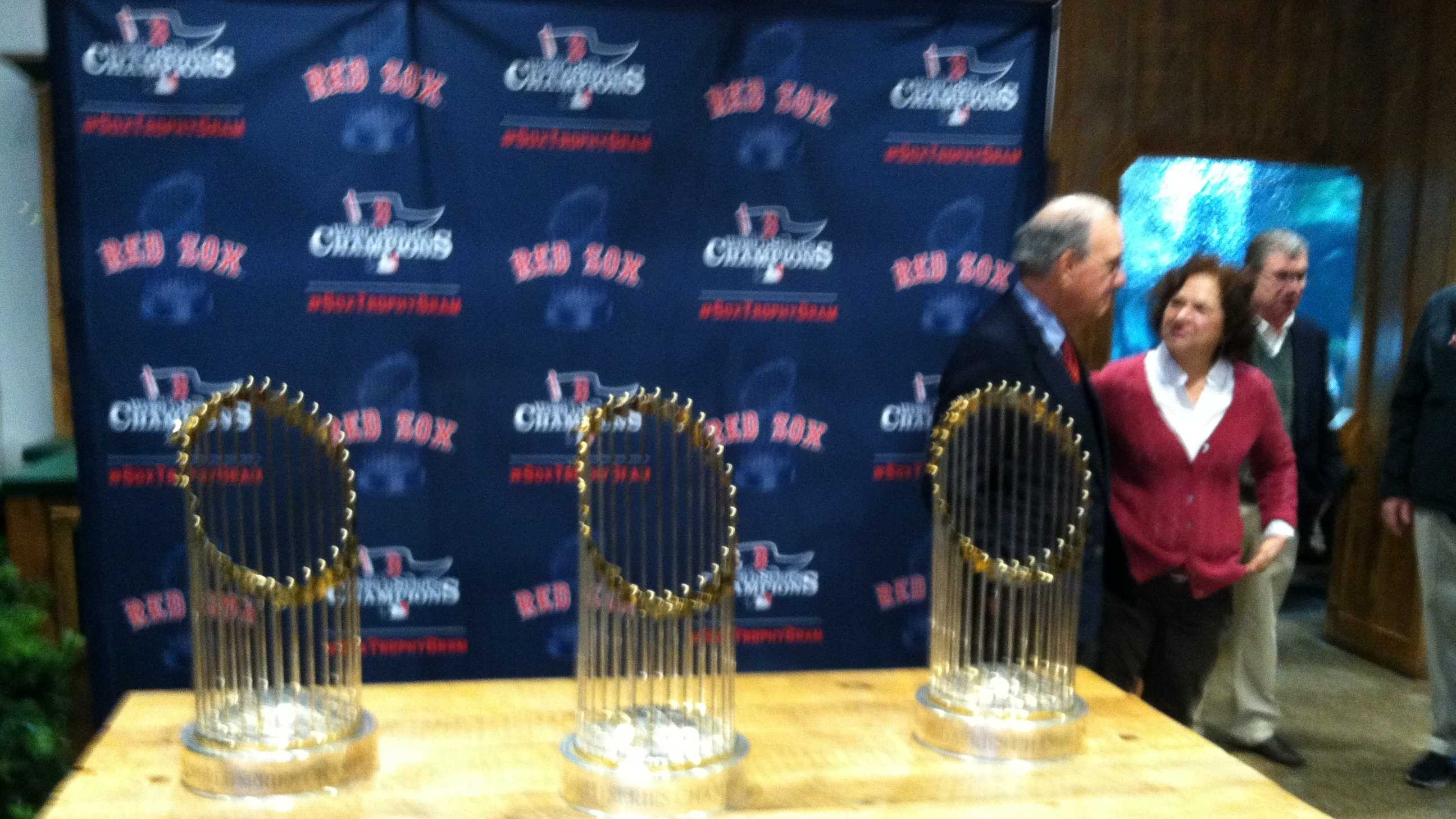 The Red Sox brought the World Series trophies from 2004, 2007 and 2013 to Maine on Saturday. Click through to see pictures from the event at L.L. Bean. Click here to watch video from the event.