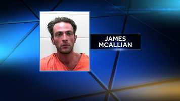 James McAllain is charged with robbery