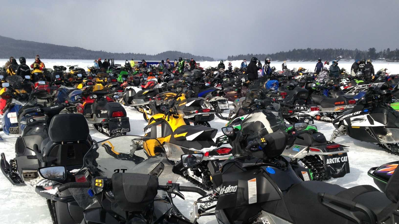 Snowmobile Rally in Rangeley