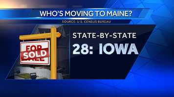 204 people moved to Maine from Iowa