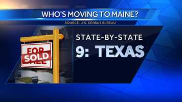 775 people moved to Maine from Texas