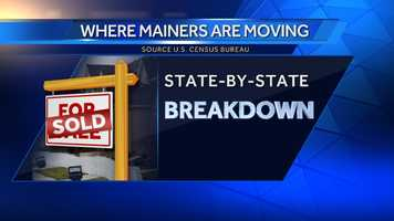 The U.S. Census Bureau says more than 33,000 people moved from Maine to other states from 2007-2011. Click through for a state-by-state breakdown of where Mainers are moving to.