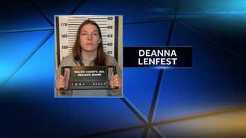 Deanna Lenfest is charged with criminal mischief, driving to endanger, disorderly conduct, refusing to submit to arrest