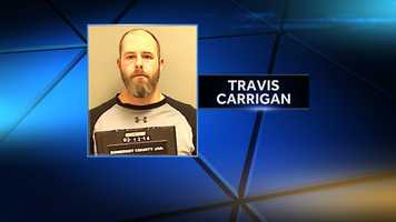 Travis Carrigan is charged with robbery