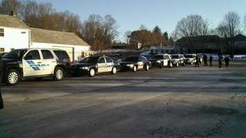 The police convoy in Canton.