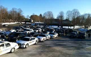 The staging area in Canton.