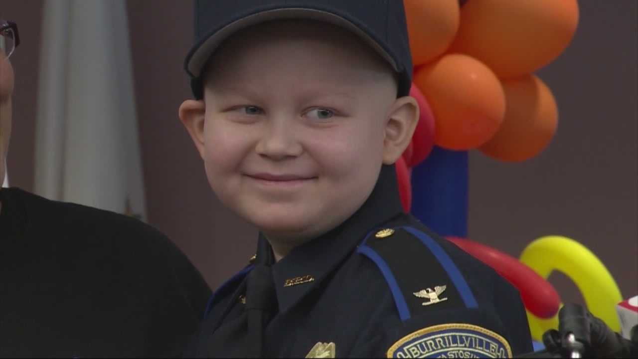 Birthday surprise of lifetime for boy fighting cancer