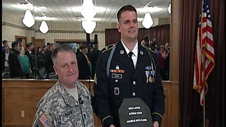 Soldier honored
