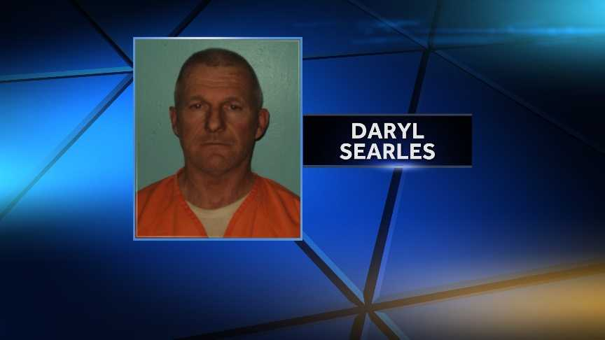 Daryl Searles is charged with Aggravated Trafficking of Scheduled W Drugs (Oxycodone and Hydrocodone) Class A, & Unlawful Trafficking in Scheduled Z drugs (marijuana) Class C.