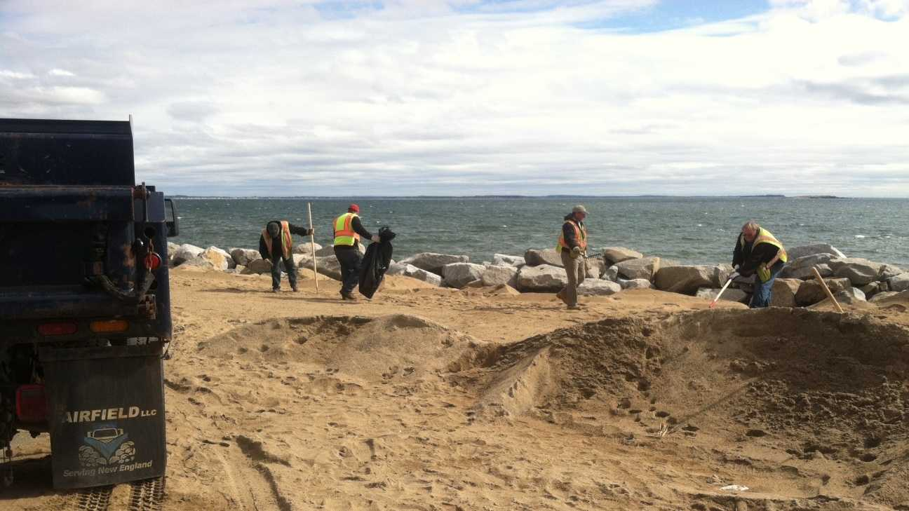 Ferry Beach cleanup