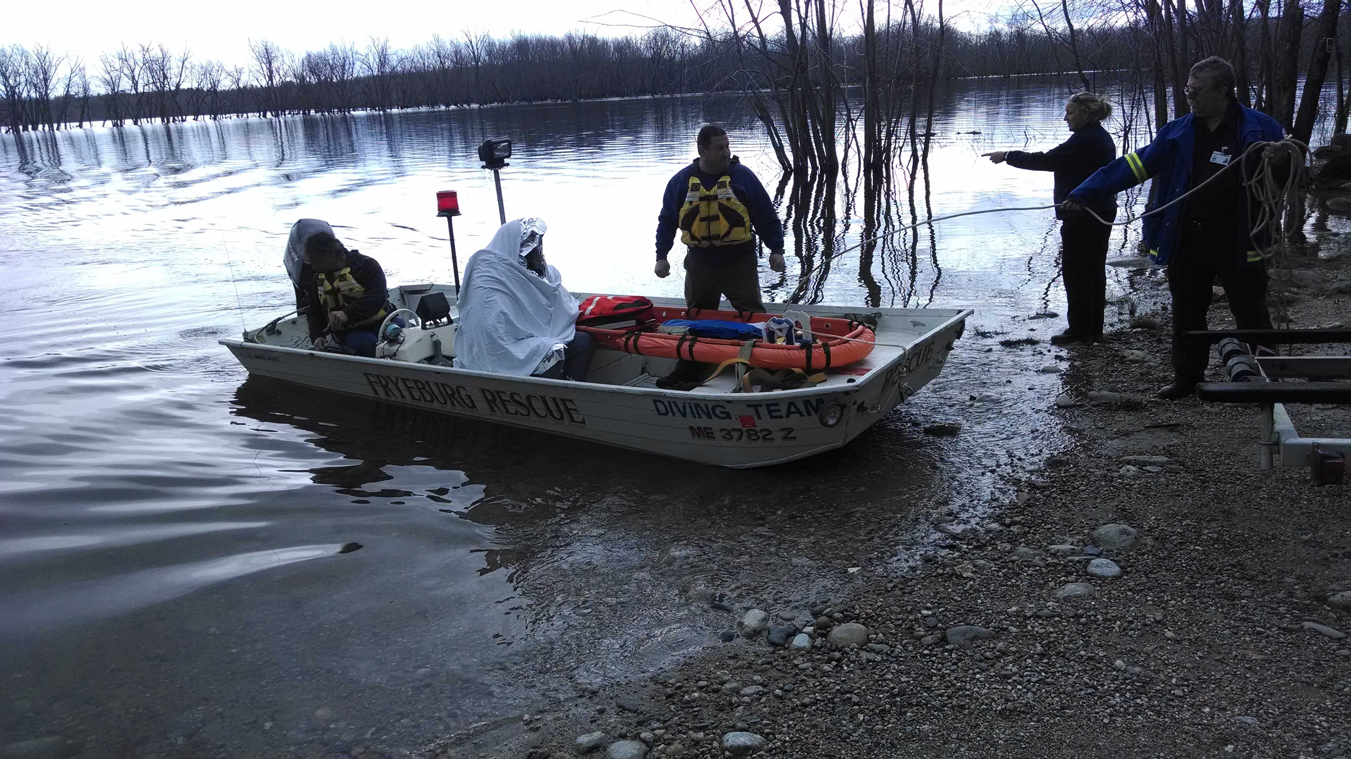 Canoieist rescued