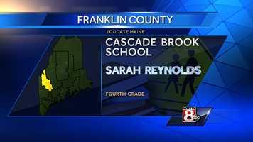 Sarah Reynolds teaches fourth grade at the Cascade Brook School, RSU 9, in Farmington