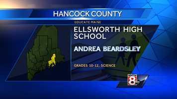 Andrea Beardslery teaches science to grades 10-12 at Ellsworth High School in Ellsworth