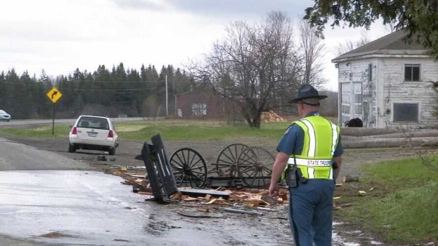 Horse drawn buggy crash