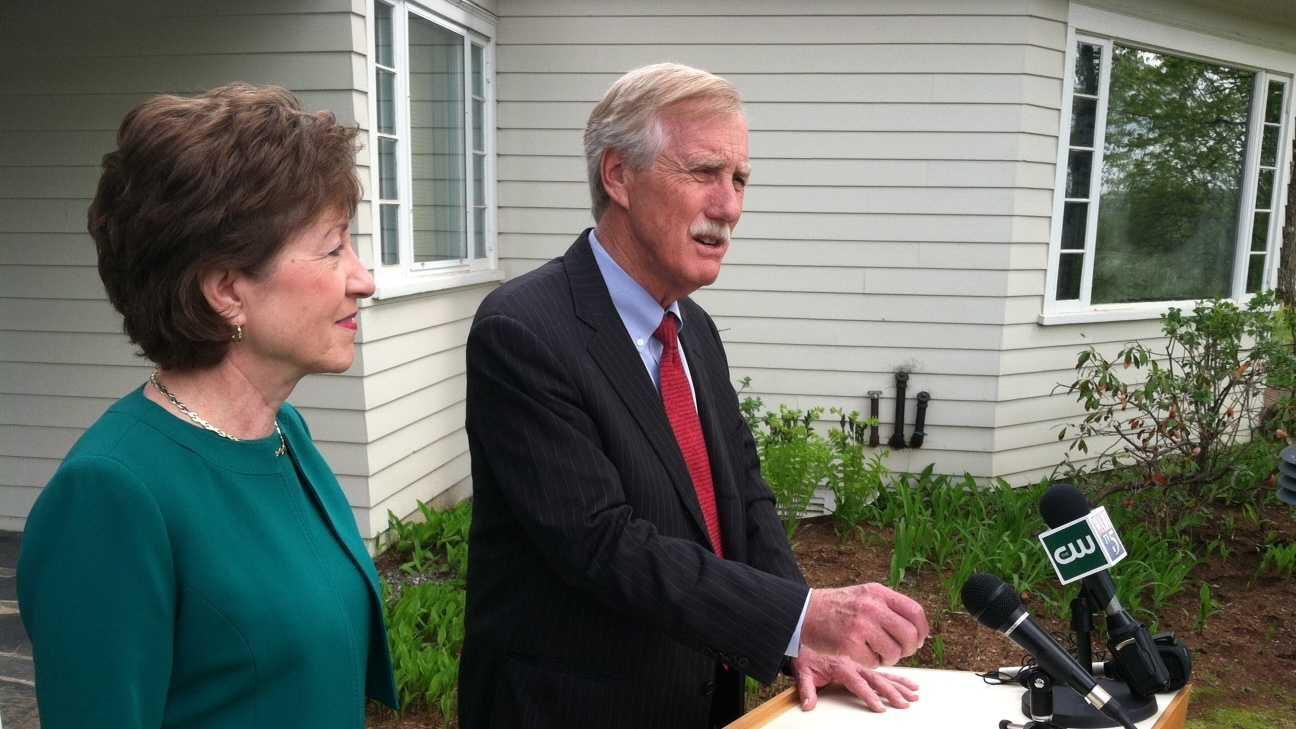 Sen. Angus King endorses Sen. Susan Collins