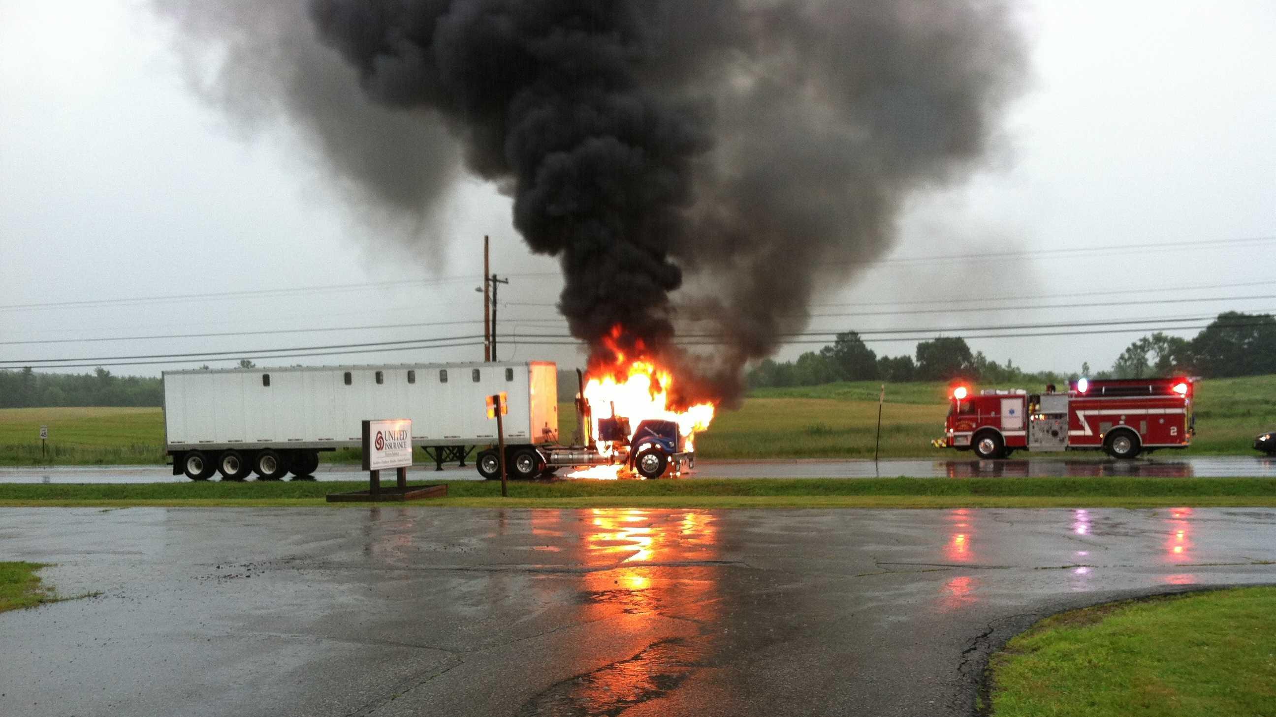 Augusta truck fire