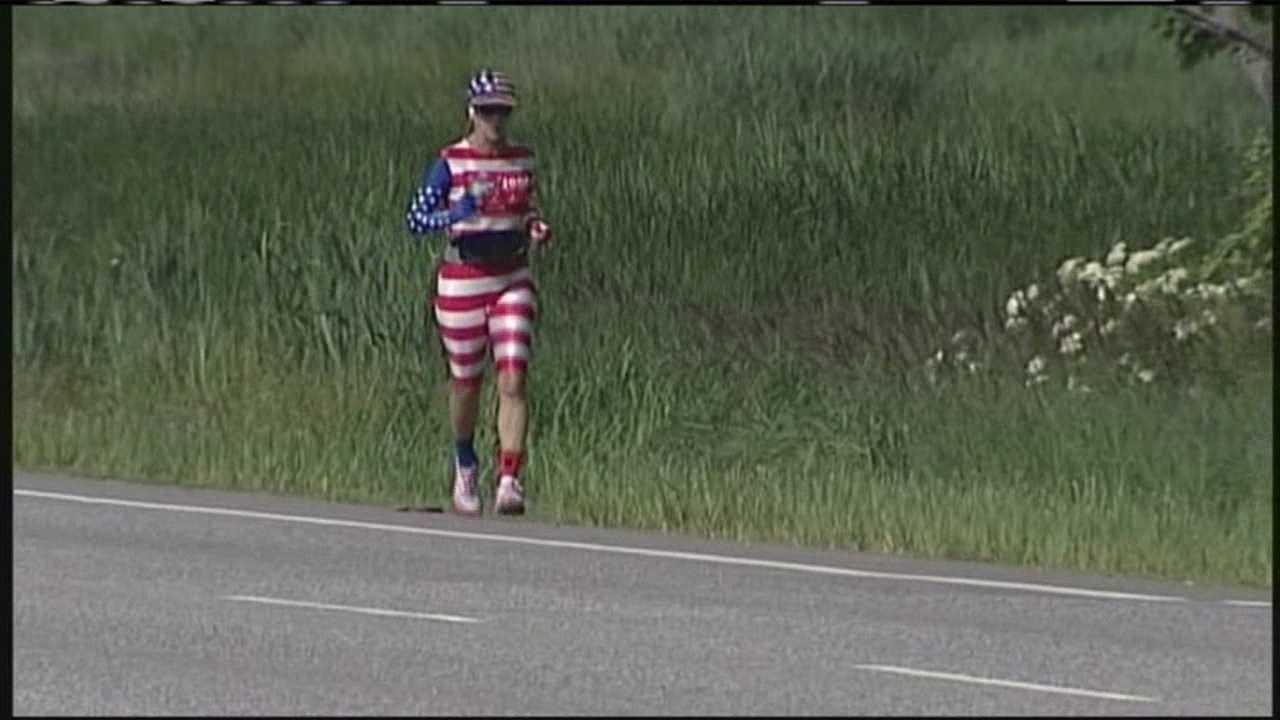 img-Cancer survivor runs from Florida to Maine
