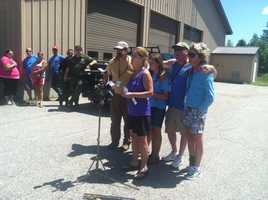 Brennan's family thanks search crews during a news conference Wednesday afternoon.