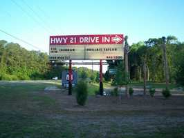 4. Highway 21 Drive-In Theater, Beaufort, South Carolina
