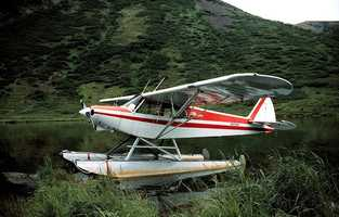 Take a float plane to a remote fishing or hunting camp