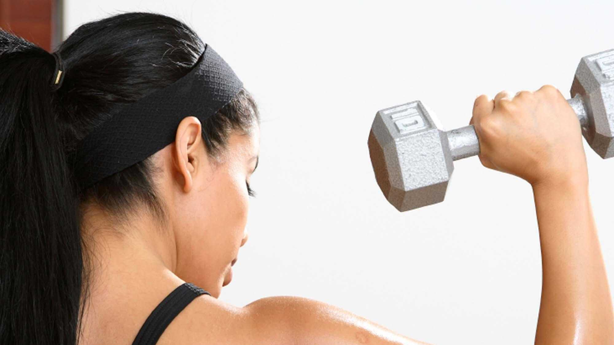 Women exercise, fitness, weight, dumbbell, gym