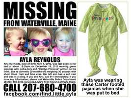 This flyer was distributed showing what Ayla was reportedly wearing when she disappeared.