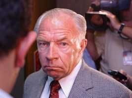 """John """"Jackie"""" Bulger's retirement pension was stopped in May 2003, after he pleaded guilty to interfering with efforts to capture his fugitive brother."""