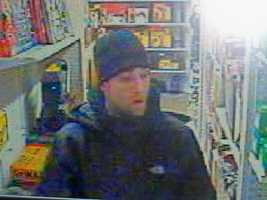 Goffstown Theft ((Press Release)) The Goffstown police department is seeking a white male subject who entered into the Mast Road Grain & Building Material business on Mast Road in Goffstown on Wednesday morning, February 1 at about 0720.  He grabbed two Dewalt combo cordless power tool kits, value in excess of $700 and took off running out the back of the store.  He was chased by the business manager to a waiting Toyota Tundra pick up, color grey, late model edition.  He was the operator of the getaway vehicle and the only known suspect in the theft.  Anyone with information can call Goffstown Police at 603-497-4858