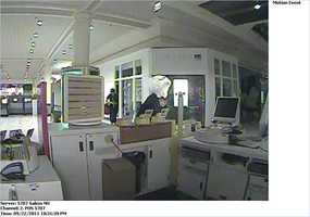 Salem Theft ((Press Release)) On Friday September 23, 2011, Salem Police responded to the T-Mobile kiosk for a reported theft of cell phones.  Upon opening the kiosk, the manager noticed the storage bin was damaged and there were numerous phones missing.  The manager estimated the theft at approximately $11,000 dollars.  Still photos taken from video surveillance show three men walking around the kiosk.  One of the men appears to holding a video camera.  Another male climbs over the counter and places a bag over the surveillance camera, while the third male appears to be acting as a lookout.  According to the footage the theft occurred sometime around 10:35 PM on Thursday evening.  The manager indicated that several T-mobile kiosks throughout Massachusetts and New Hampshire have been burglarized as of late.  The case is being investigated by the Salem Police Detective Division.  Anyone with information can call 603-893-1911 or Crimeline of Southern New Hampshire 603-893-6600.