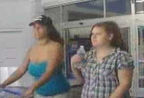 Concord Theft ((Press Release)) The Concord Police Department is asking the public for their assistance in identifying the suspects in a recent theft of a pocketbook that occurred in the parking lot of a Concord business. The crime under investigation occurred on August 1st at approximately 2:30 pm at Wal-Mart located at 344 Loudon Road. A customer mistakenly left her purse in a cart when it was returned to the carriage corral in the parking lot. When the victim returned a short time later the purse was gone. The purse is a bright green Vera Bradley purse. The purse contained identification, credit cards, and an undisclosed amount of money. The suspect has been identified as a white female, in her 20's wearing a black baseball cap and a blue shirt. The suspect was accompanied by two other white females that the police are looking to identify. The suspects were seen driving from the scene in a gold Chrysler or Dodge minivan.  Evidence has been recovered in relation to this incident. The Concord Police Department has recovered video surveillance from store security and is asking the public to assist in identifying the individuals of interest depicted in the photographs. Anyone who has information relative to any criminal incident is asked to call the Concord Regional Crimeline at (603) 226-3100, or submit information online to the website at: www.concordregionalcrimeline.com, or Txt TIP234 and their message to CRIMES (274637).  Crimeline awards cash to anyone whose information leads to the arrest and indictment of criminals. All tips remain anonymous.