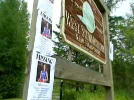 Missing posters were placed across town.