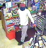 "Lebanon Robbery ((Press Release)) Lebanon Police are seeking assistance in identifying a man who robbed the Lebanon Fast Stop convenience store at Hanover Street and Route 120. On June 24th at approximately 8:58PM, Lebanon officers responded to a call of a robbery that had just taken place involving a man with a knife who escaped the store with an undetermined amount of cash. The man is described as being about 5'8"" tall, weighing 140 to 160 pounds. He was wearing a long-sleeved white shirt, gray sweatpants, and black sneakers with a light-colored logo on the tongue. Over his head, the man was wearing a red-colored long cloth. He wore a blue covering around his head, covering his face. He wore red and black gloves. The man was last seen running from the store headed towards the Winter Street area in Lebanon. During the robbery, the man threatened the clerk with a large knife. Lebanon Police request assistance from anyone who has information on this incident. Those with information are asked to call the Lebanon Police Department at (603) 448-1212."
