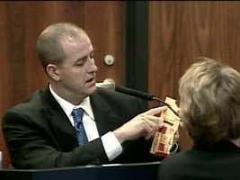 Detective Ryan Grant testifies at the trial.