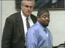Michael Addison, seen here at his trial in 2008, was convicted of killing Manchester police officer Michael Briggs on Oct. 16, 2006. He was sentenced to death.