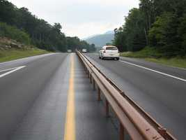 Franconia Notch I-93 Project: A 5.8-mile section of the Franconia Notch Parkway (Interstate 93) is getting a makeover. The project is being done in two-mile segments to reduce the impact on traffic flow, which averages about 8,000 vehicles a day.