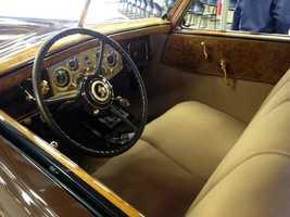 1934 Packard interior