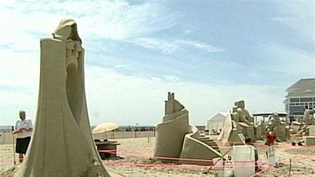 A behind the scenes look at the Hampton Beach Sand Sculpture Competition