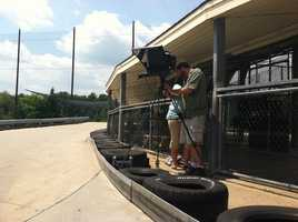 Take a look behind the scenes as New Hampshire Chronicle shoots at Mel's Funway Park in Litchfield and at the Flume with Fritz.