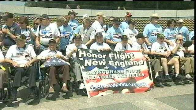 'Honor Flight' brings local veterans to see WWII memorial