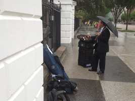 News 9's Josh McElveen visited the White House on a rainy Monday to interview President Barack Obama. Click through the slideshow to see pictures from the trip.