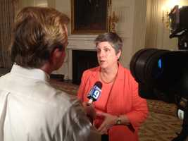 Secretary of Homeland Security Janet Napolitano.