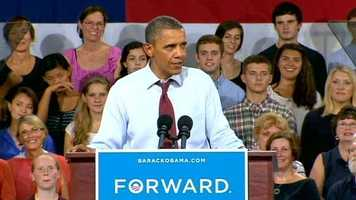 President Obama stopped by Windham High School for a speech on the economy.