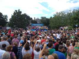 President Obama spoke to supporters in Rochester later in the day.