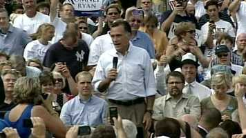 Romney then began speaking to the large crowd.