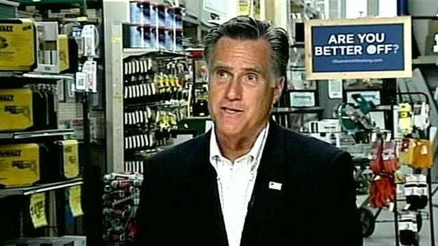 Mitt Romney in West Lebanon