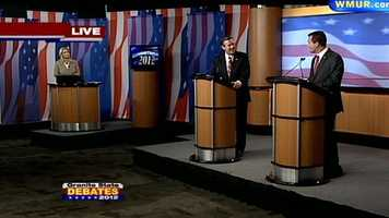 Ovide Lamontagne asks Kevin Smith about vetoing at the Republican Governor's debate.