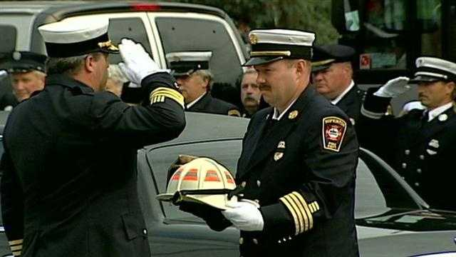 Community comes together as Hopkinton Fire Chief Richard Schaefer is laid to rest.