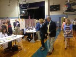Gubernatorial candidate Maggie Hassan (D) casting her vote.
