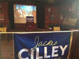 The Jackie Cilley campaign is all set up at Shaskeen.